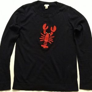 J Crew Factory lobster charley intarsia sweater